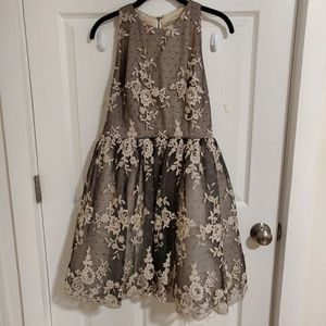 Alice and Olivia Backless Lace Dress